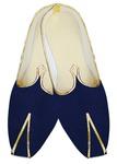 Mens Indian BridalShoes Royal Blue Velvet Wedding Shoes Ethnic