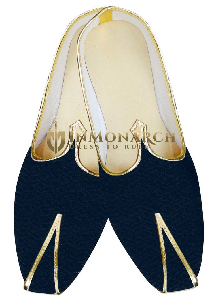 Traditional Shoes For Men Dark Navy Velvet Wedding Shoes Traditional