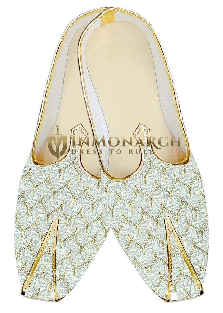 Mens Sherwani Shoes Cream Wedding Shoes Designer Juti For Men