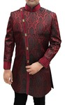 Indian Sherwani for Men Burgundy Indowestern Sherwani Angrakha Style