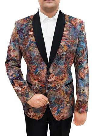Mens Slim fit Velvet Sky Blue Wedding Blazer sport jacket coat