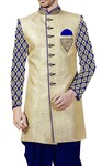 Mens Indian Wedding Clothes Beige Indowestern Wedding Sherwani