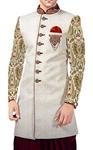 Mens Cream Sherwani kurta Indowestern Traditional Look Wedding Sherwani