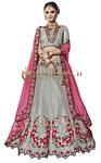 Designer Gray Banaras Silk Lehenga Choli
