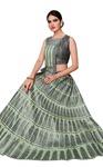Green Tussar Silk Lehenga Style Saree