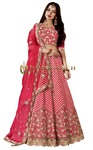 Pink Silk Designer Lehenga Choli