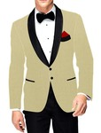 Mens Slim fit Casual Beige Polyester Viscose Blazer sport jacket coat Shawl Lapel
