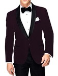 Mens Slim fit Casual Wine Polyester Viscose Blazer sport jacket coat Partywear