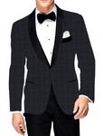 Mens Slim fit Casual Gray Checks Sports Blazer sport jacket coat Partywear