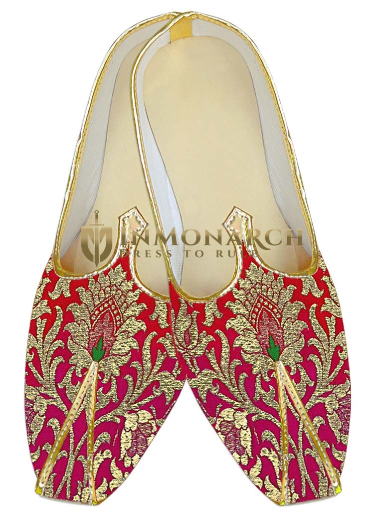 Indian Wedding Shoes For Men Shaded Crimson Wedding Shoes Traditional Shoes