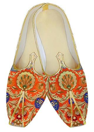 Indian WeddingShoes For Men Orange Wedding Shoes Ethnic TraditionalShoes
