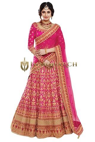 Magenta Bhagalpuri Wedding Lehenga