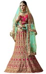 Magenta Banarasi Silk Lehenga Choli