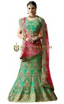Ethnic Green Naylon Satin Lehenga Choli