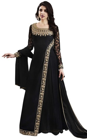 Ethnic Black Georgette Anarkali Suits