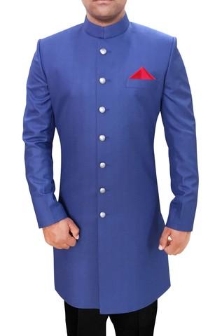 Mens Sherwani Royal Blue Sherwani Partywear Indo WesternOutfit