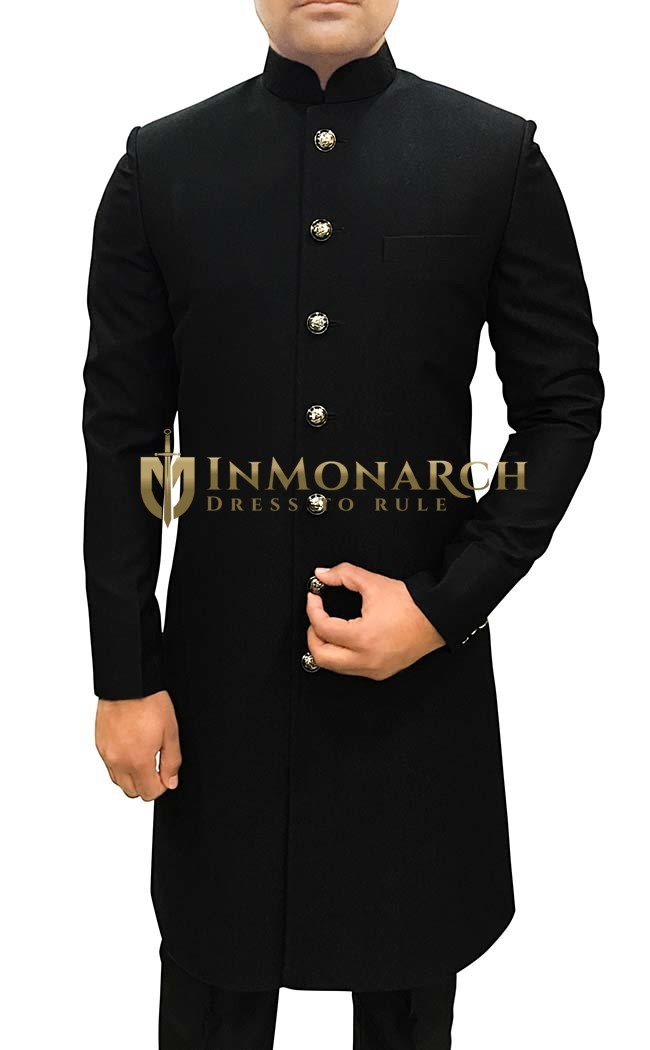 Mens Sherwani For Men Black Designer Sherwani Traditional