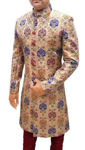 Groom Sherwani ForMen Wedding Pink Sherwani Flower Design