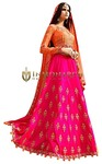 Bridal Fuchsia Art Silk Lehenga Choli