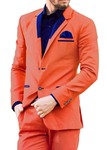 Mens Salmon 4 Pc Tuxedo Suit Bollywood Style