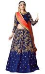 Navy Blue Art Silk Designer Lehenga Choli