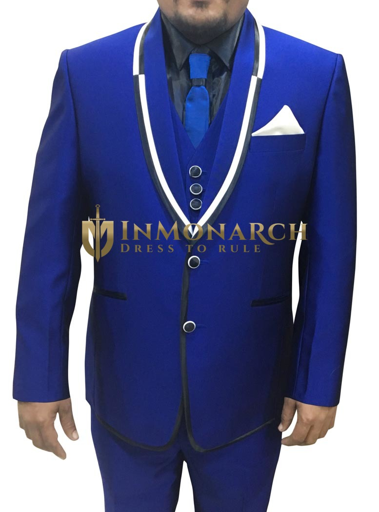 Mens Royal Blue 6 pc Tuxedo