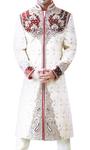 Mens IndianSuit Cream Sherwani Stylish Embroidered mens IndianSuit