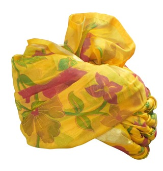 Mens Yellow Silk Wedding Turban Traditional