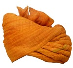 Mens Orange Net Wedding Turban Look Ethnic