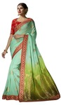 Sky Blue Pure Viscose Partywear Saree