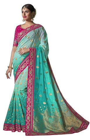 Green Pure Viscose Bollywood Saree