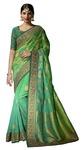 Shaded Light Green Pure Viscose Bridal Saree