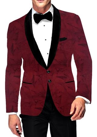Mens Slim fit Casual Wine Blazer sport jacket coat Two Button polyester Suede