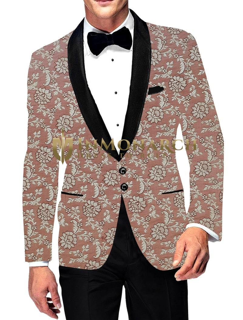 Mens Casual Copper Slim fit Blazer Sport Jacket Coat Two Button Digital Printed
