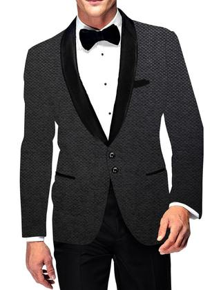 Mens Two Button Casual Slim fit Gray Blazer Sport Jacket Shawl Lapel Jute Coat