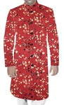 Mens Sherwani Wine Digital Printed Wedding Sherwani Traditional Style