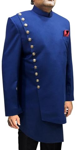 Sherwani for Men Wedding Royal Blue Indowestern Sherwani Latest Pattern Sherwani