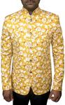 Mens Indian Wedding Groom Suit Yellow Jodhpuri Suit Designer Bandhgala
