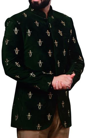 Mens Green Wedding suits Latest Partywear Jodhpuri Suit