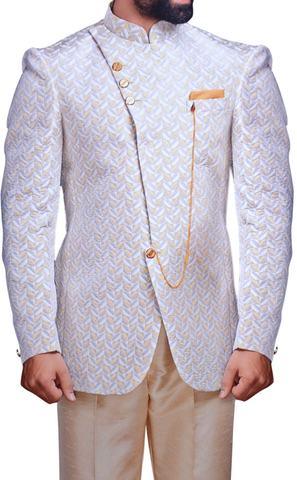 Mens Lavender Wedding Suit Groom Jodhpuri Suit
