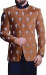Indian Wedding Groom Suit Brown Velvet Jodhpuri Suit