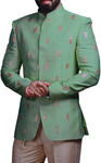 Groom Green Embroidered Jodhpuri suits Indian wedding Jodhpuri