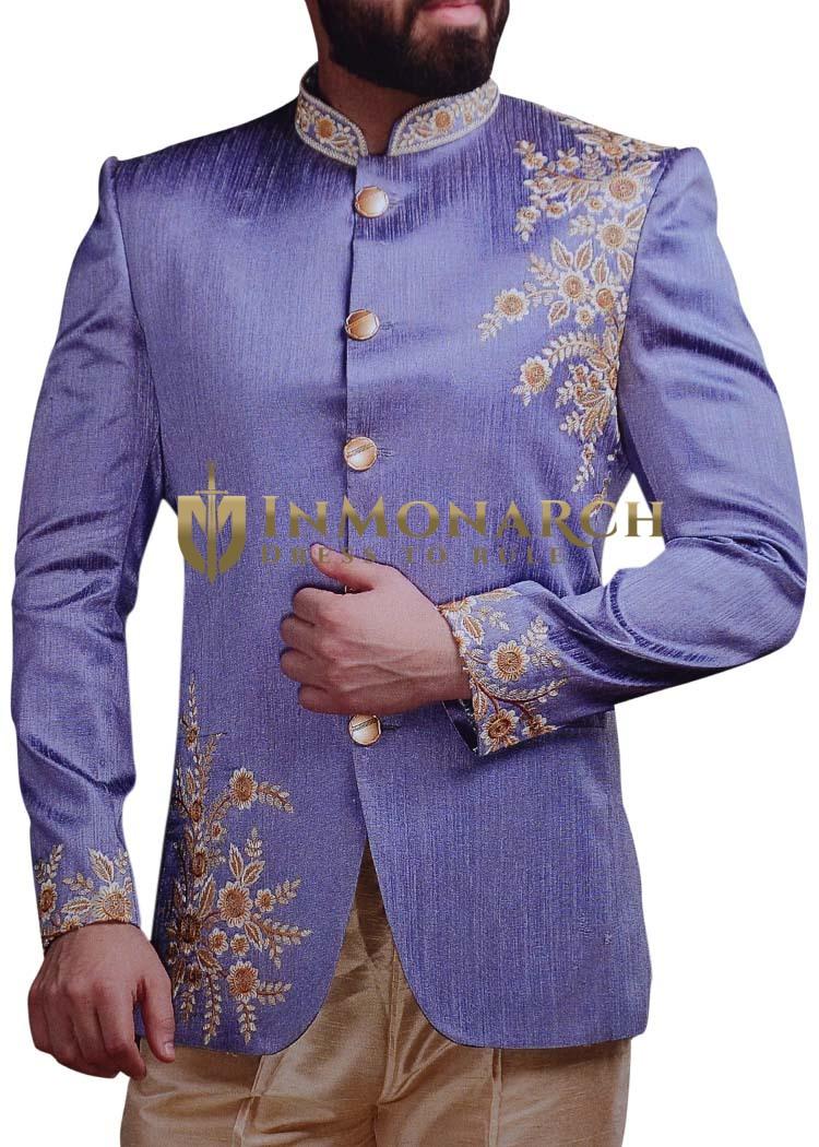 Mens Regency Jodhpuri Suit Embroidered Indian wedding Jodhpuri
