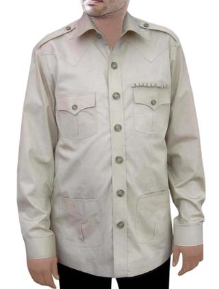 Zoo KeeperShirt Safari Cotton BoyScout Shirt 4 pocket Bush Shirts