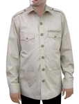 Zoo Keeper Shirt Safari Cotton Boy Scout Shirt 4 pocket Bush Shirts