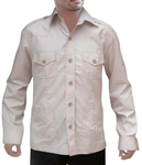 Mens Hunting Shirts Safari Gainsboro Boy Scout Uniform 4 pocket Bush Shirts