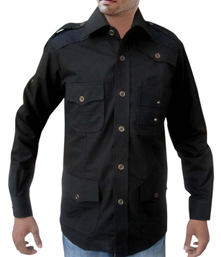 Safari Costume Black cotton Crocodile Hunter Costume Hunting Bush Shirts