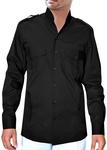 Boy SscoutUniform Black Zoo KeeperShirt Long Sleeved Bush Shirt