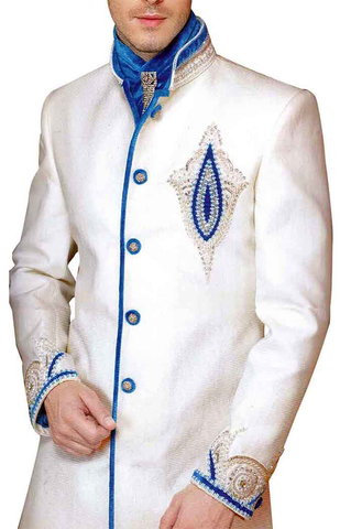 Mens Sherwani Cream Indo Western kurta for jeans