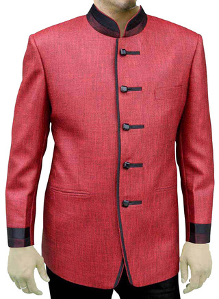 Mens Reddish pink 2 Pc Jodhpuri Suit